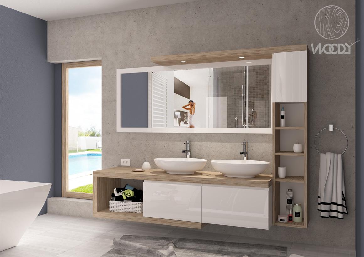 bagni su misura - mobili bagno su misura - render - Copyright: WOODYDESIGN. All rights reserved.